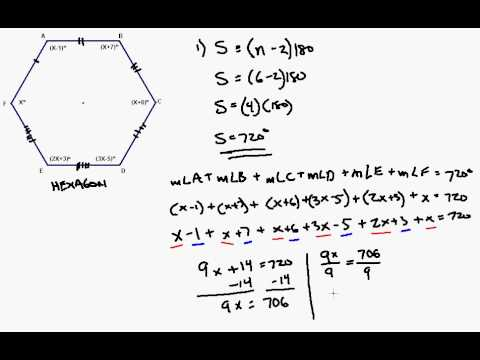 Interior Angle Formula Applied To Irregular Hexagon Youtube