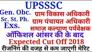 UPSSSC VDO EXPECTED CUT OFF 2018/Vdo cut off 2018