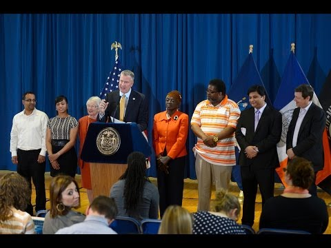 Mayor Bill de Blasio Delivers Remarks at Bronx Academy for Software Engineering