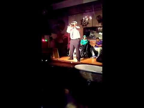 """Larie D Edwards performed """"Enchantment""""from his album """"Poetic Love"""" at The Living Room in the Bronx"""