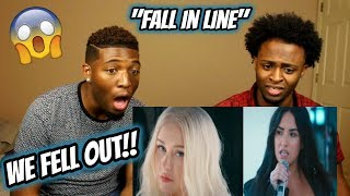 Christina Aguilera - Fall In Line  ft. Demi Lovato (WE FELL OUT OUR CHAIRS!!) Video