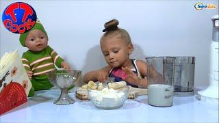 ✔ Baby Born. Повар Ярослава готовит Молочный Коктейль для Куклы Бэби Борн. Серия 1 ✔