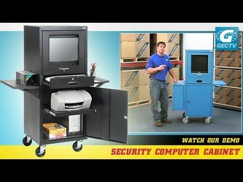 Mobile Securtiy Computer Cabinet