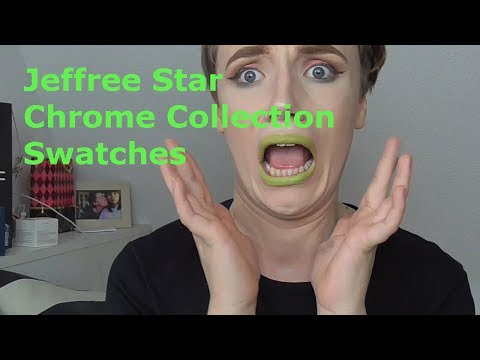 Jeffree Star Chrome Collection Swatches & Eye Look | Miss Temptation |