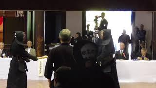 第114回 全日本剣道演武大会 教士八段の部 祝要司先生(愛知) 対 上垣友成先生(奈良)