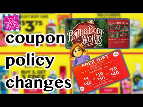 Bath & Body Works *COUPON POLICY CHANGE*