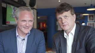 Gerard Batten congratulates Richard Braine on his victory.
