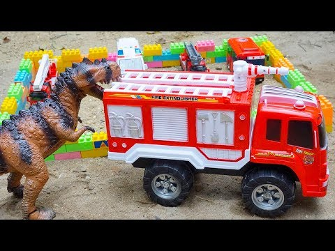 Fire Truck Ambulance Police Car Toys for Children | Tayo The Little Bus Dinosaurs for Kids And Toys