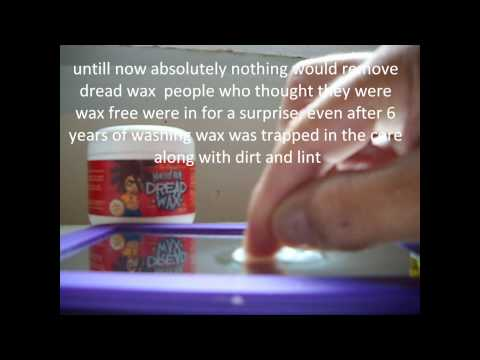 dread wax can finaly be removed never wax dreads but if you did watch this