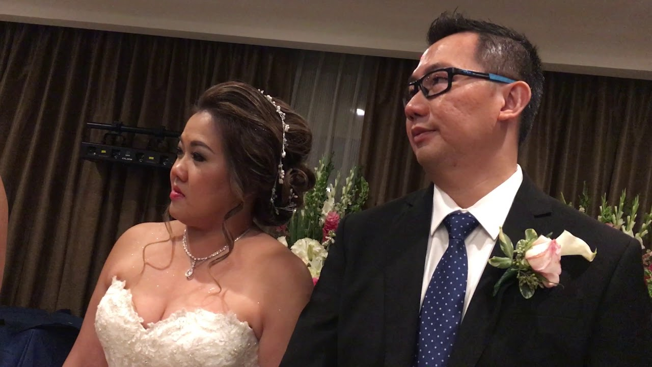 Cisca And Mikes Wedding Reception Dinner Prayer By Tante Densy
