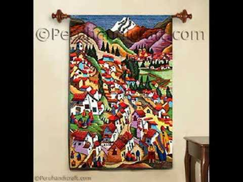 peruvian tapestries tapestry hanging wall - YouTube