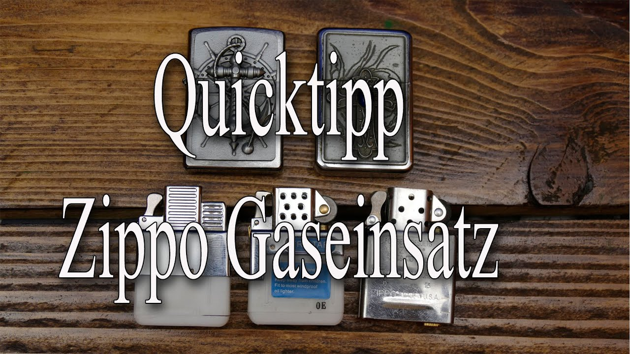 Quicktipp: Zippo Gaseinsatz - YouTube