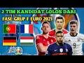 2 Tim kandidat lolos dari fase grup F euro 2021