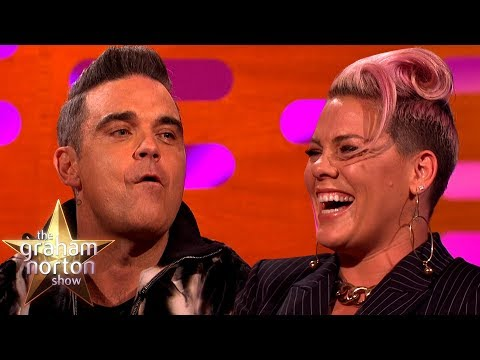 Download Youtube: Pink Confused Robbie Williams With a Chef | The Graham Norton Show