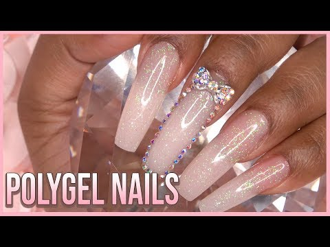 PolyGel Nails with Dual Forms - Nail Tutorial - For Beginners - How to - Gelish Polygel
