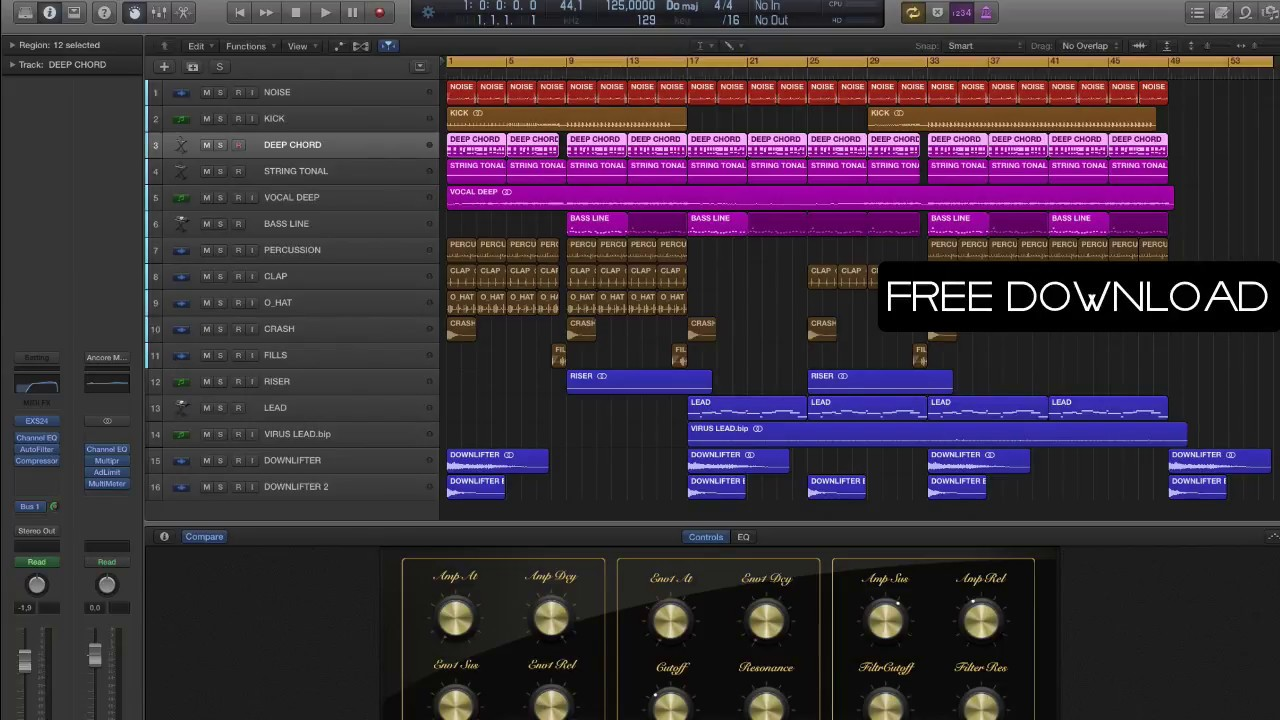 Free Deep House Logic Pro Template Ancore Sounds