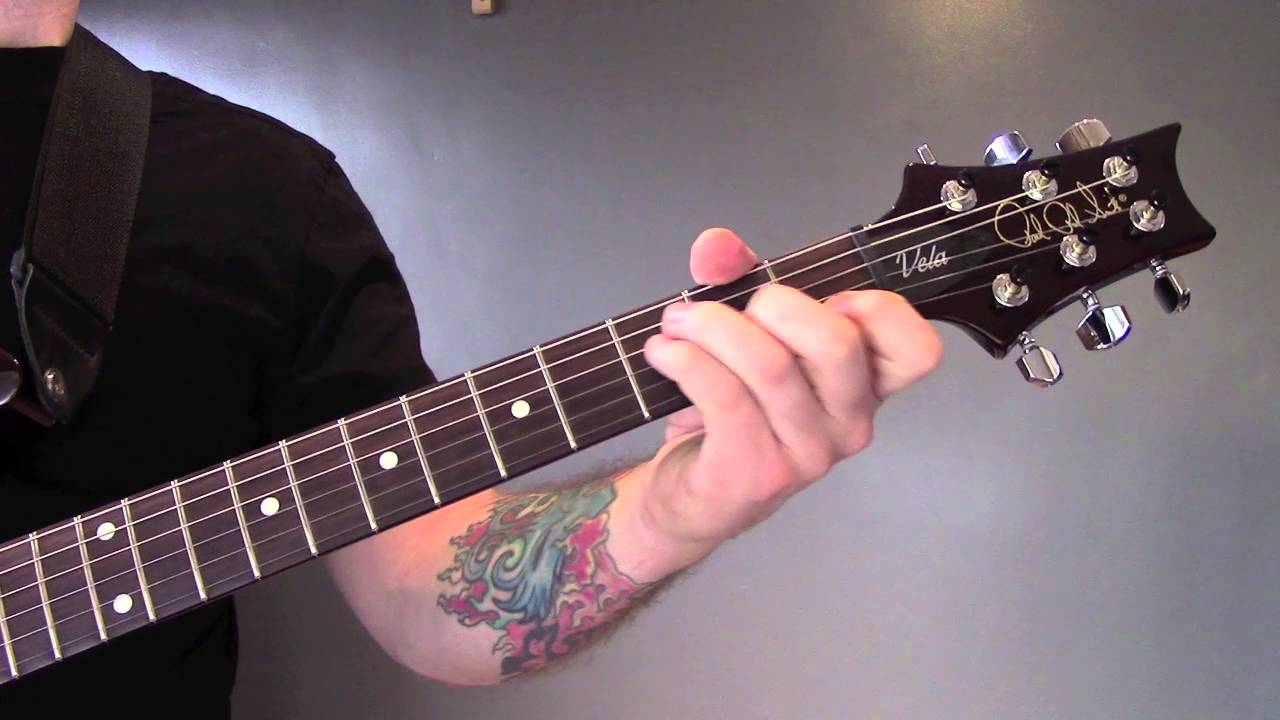 oasis slide away electric guitar lesson with solo youtube. Black Bedroom Furniture Sets. Home Design Ideas