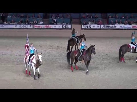 Trick Riding - Riata Ranch Cowboy Girls - Night of the Horse 2016 - Del Mar National Horse Show