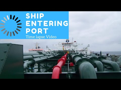 Sea Voyage: Time lapse of Ship Entering Antwerp Port