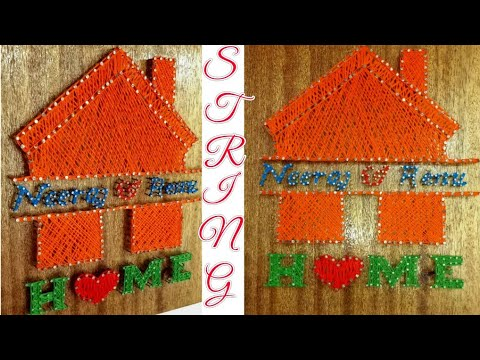 DIY/String Art/ Wood String Art/String Art Wall Hangings/wall Decoration Idea/String Art With Home