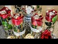 How To| Dollar Tree Inexpensive Red Elegant Centerpieces