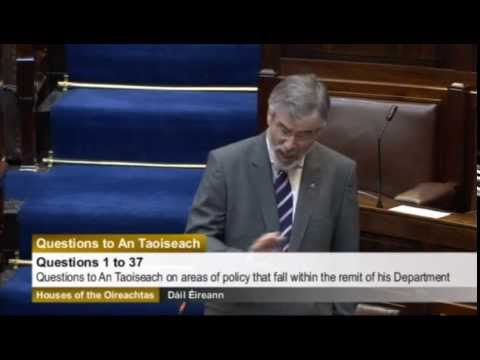 Gerry Adams on situation in the north