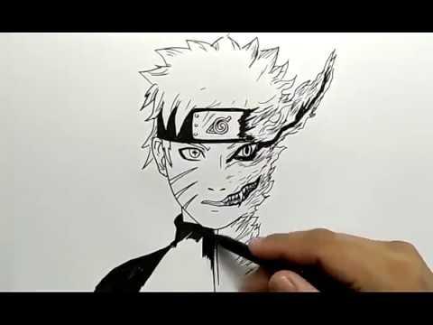 cara menggambar naruto kuruma / how to draw naruto kuruma - YouTube