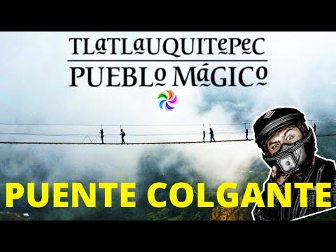 Puente colgante en Tlatlauquitepec, pueblo mágico| Suzuki Gz150.