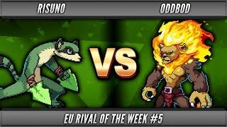 Rivals of Aether - Risuno (Maypul) vs OddBod (Zetterburn) - RotW#5 WR2