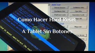 Hard Reset Tablet China Sin Botones de Vol Marca VIOS Contraseña / Patrón