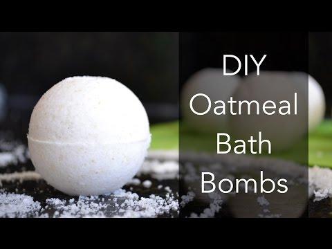 Oatmeal Bath Bombs, DIY, Easy Homemade Bath Bomb Recipe