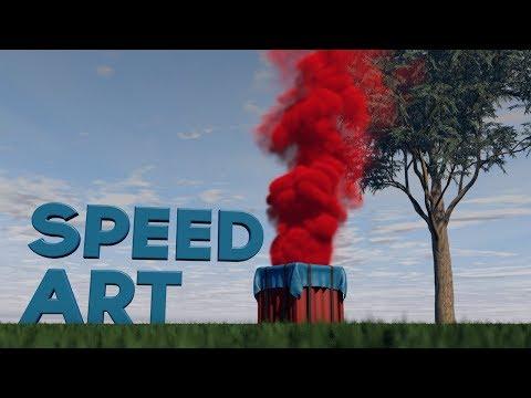 Speed Art [CINEMA 4D] - PUBG Drop Box