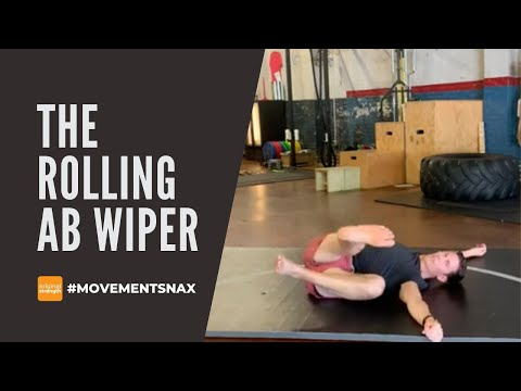 The Rolling Ab Wiper - a way to strengthen your core that feels good