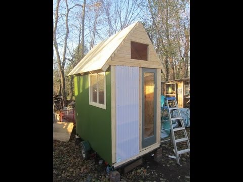 Deeks 45 Sq Ft Tiny HouseCabin On Wheels RVCampershed office  YouTube