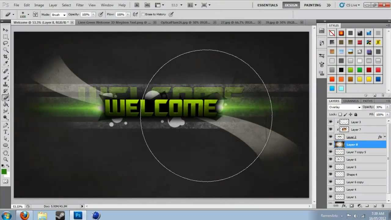 Ramen Speed Art - Welcome
