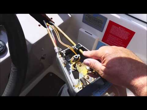 How To Install Mercury Throttle And Shift Cables Doovi