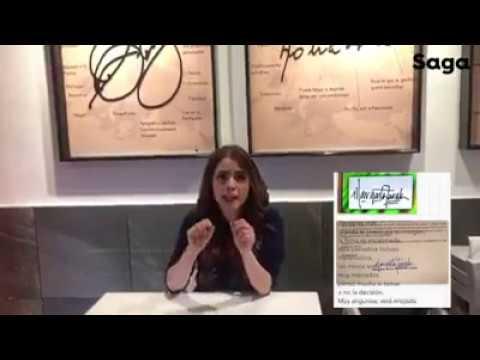 Maryfer Centeno analiza la firma de Margarita Zavala