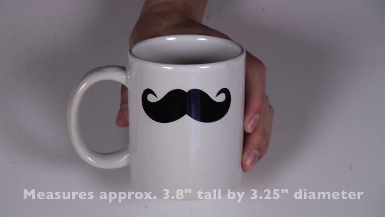 ceramic mustache coffee mug tea cup youtube