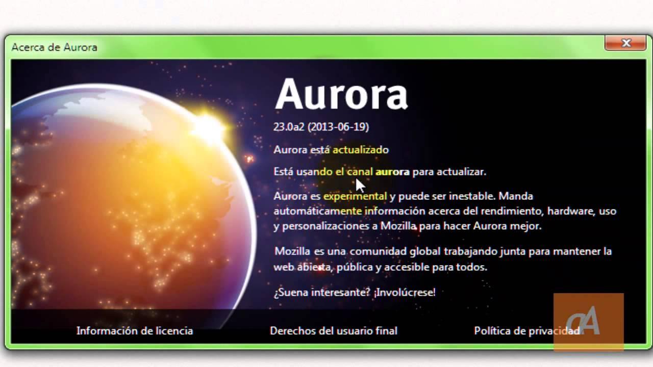 Firefox Aurora, el nuevo navegador de Mozilla Firefox