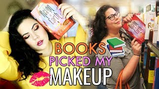 BOOKS PICKED MY MAKEUP | Book Hunting Makeup Challenge