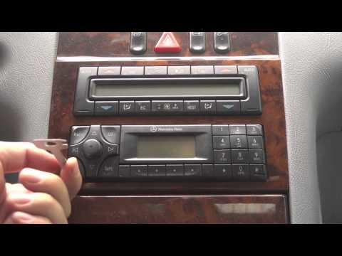 How to remove radio Mercedes-Benz