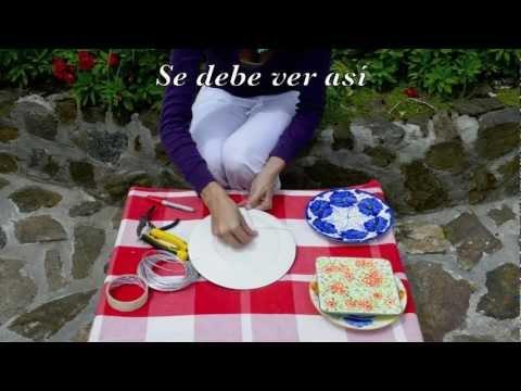 Aprende como colgar platos en la pared haz tus propios - Como decorar platos ...