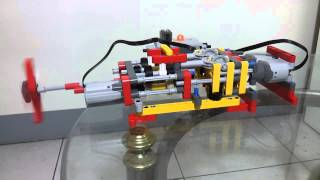 LEGO  TECHNIC FOUR SPEED GEARBOX  用樂高做的4段變速箱