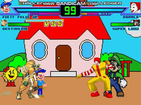 M.U.G.E.N. Battle: Fix it Felix Jr and DIO vs Ronal McDonald and Luigi