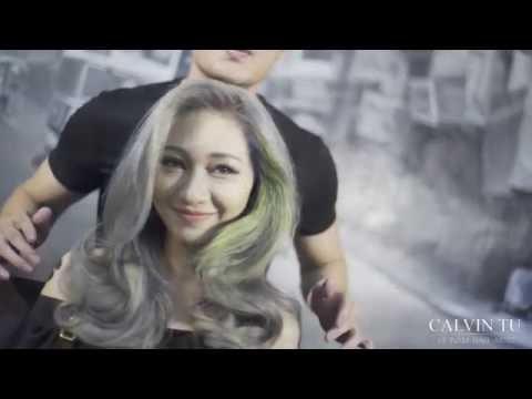 Silver hair color - Vietnam hair artist Calvin Tu