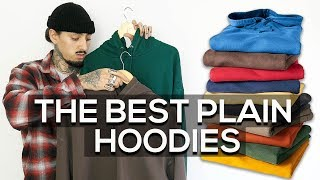 THE BEST PLAIN HOODIES | AUTUMN FALL ESSENTIALS 2018