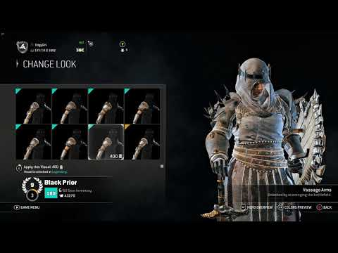 For Honor: All Black Prior Armor/Weapons (Quick Overview)