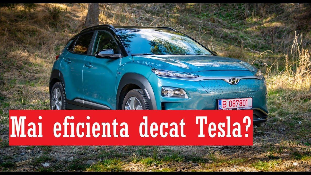 Review Hyundai Kona Electric 2020 - Mai eficienta decat o Tesla?