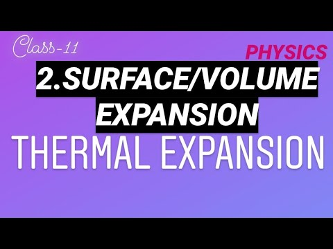 SURFACE/VOLUME EXPANSION | L-2 | THERMAL EXPANSION | HEAT-5 | CLASS-11 | PHYSICS
