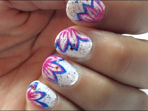 Easy Line Nail Art White